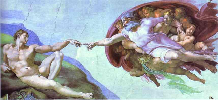 Michelangelo. The Creation of Adam. - Olga's Gallery