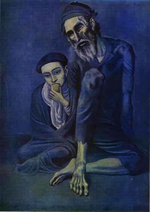 Pablo Picasso. Old Beggar with a Boy.