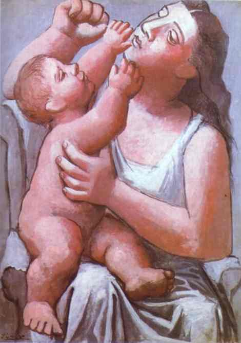 Pablo Picasso. Mother and Child.