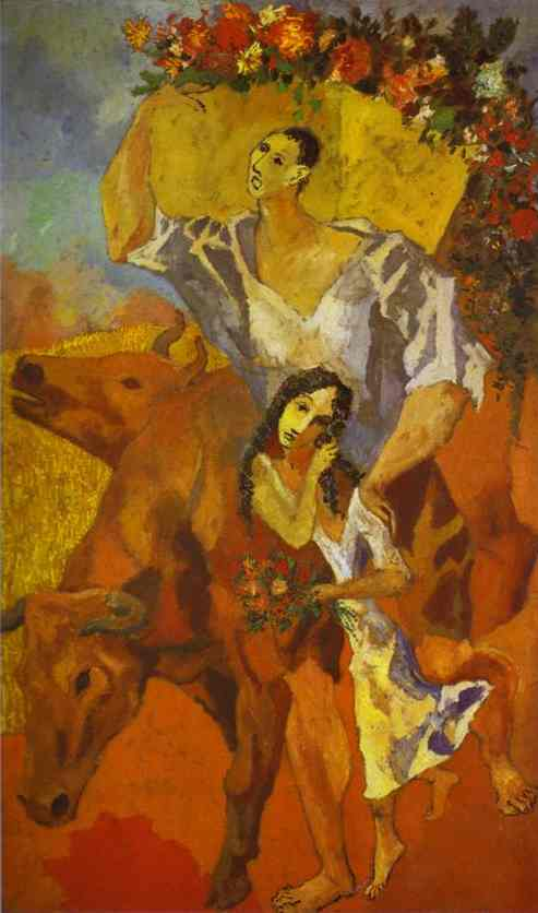 Pablo Picasso. The Peasants. Composition.