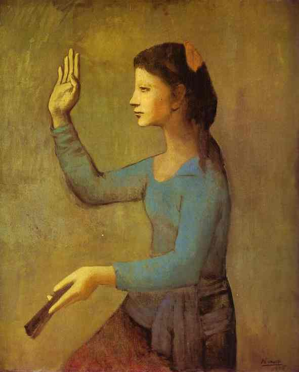 Pablo Picasso. Lady with a Fan.