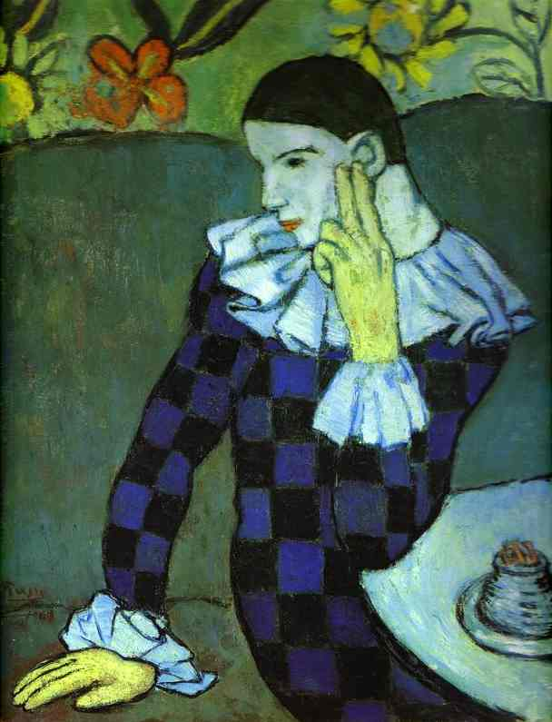 Pablo Picasso. Leaning Harlequin.